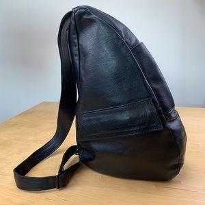 Handbags - Leather Asymmetrical Crossbody Black Bag